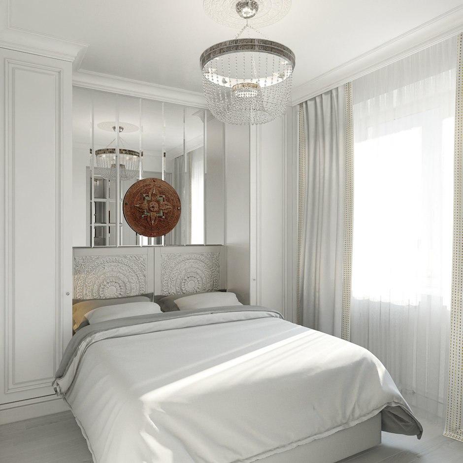 Проект квартиры 53 м с гостиной-кухней и спальней.