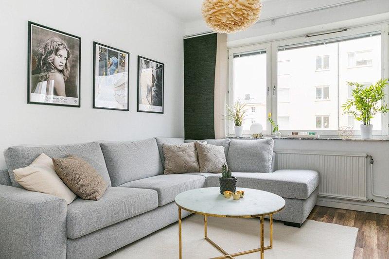 Скандинавский интерьер: квартира-студия 33 м.