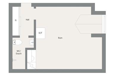 Мансардная квартира-студия 30 м.