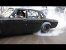 Кривой Рог. ГАЗ 2401 HOONIGAN V8 / Nissan Bluebird. Drift/Burnout.