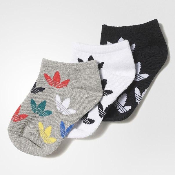 Три пары носков Graphic Trefoil Liner