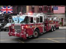 Fire trucks responding - BEST OF 2016 - Siren, air horn action