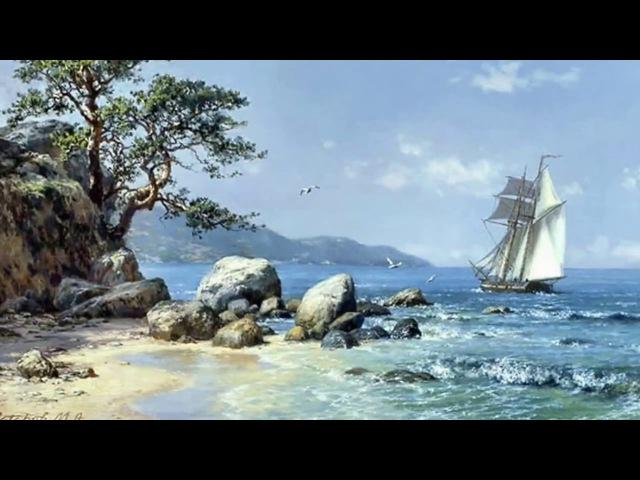 Мастер класс Игоря Сахарова Пишем пляж, море и камни 1