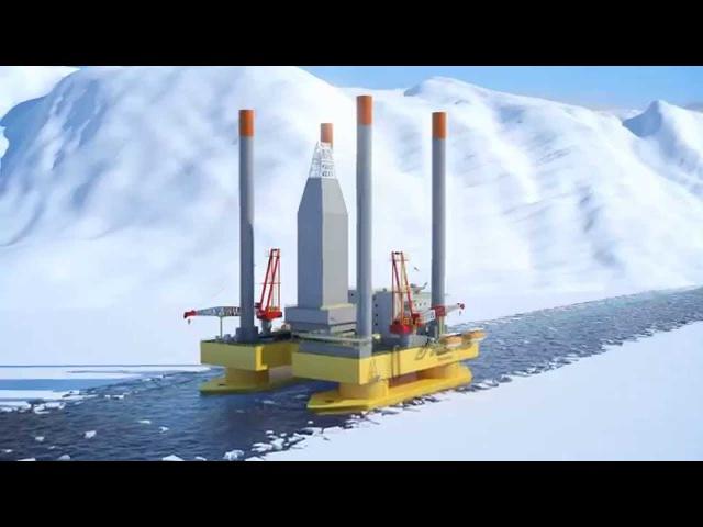 Трехмерная модель СПБУ для полярных условий компании