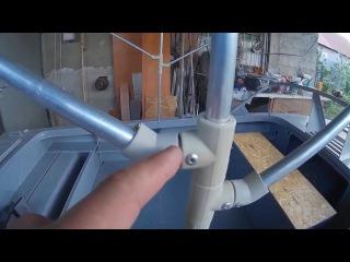 Как изготовить тент на лодку своими руками 434