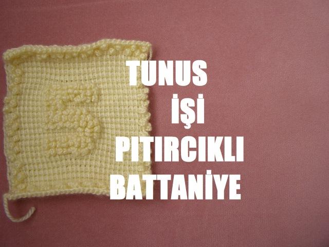 Tunus İşi Pıtırcıklı Bebek battaniyesi RAKAMLAR 5. NUMARA