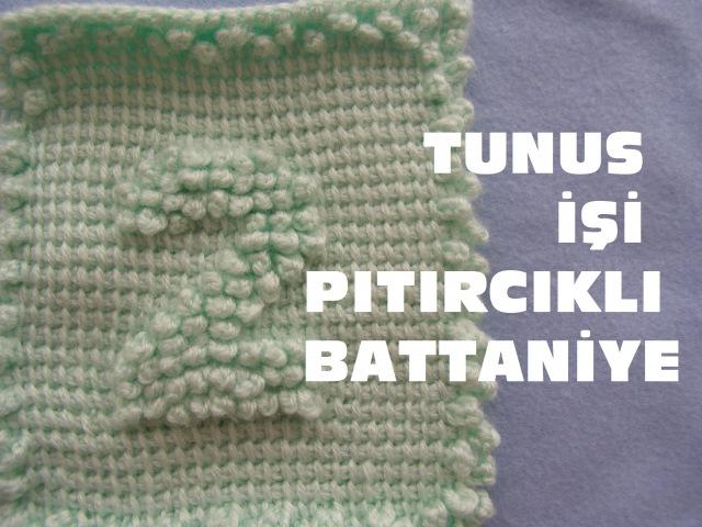 Tunus İşi Pıtırcıklı Bebek Battaniye Yapılışı - RAKAMLAR 2.NUMARA