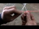 Как сделать подвес без западающих узлов в рыболовной сети.