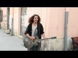 Street musician singing in Lviv cover on