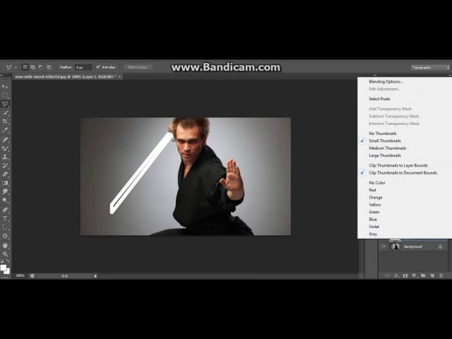 Как сдеать световой меч в Photoshop смотреть онлайн без регистрации