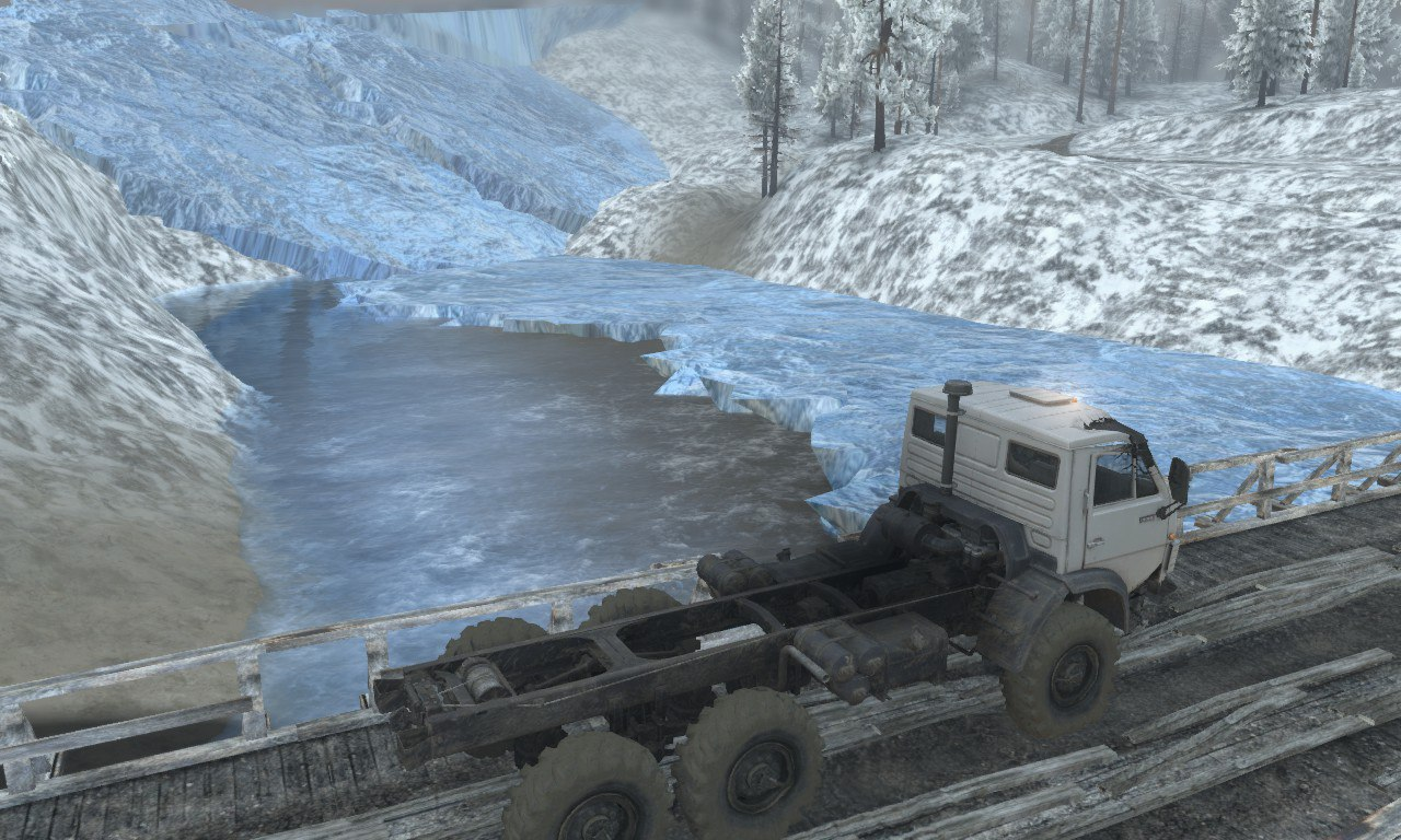 Карта «Ледник» для 03.03.16 для Spintires - Скриншот 2