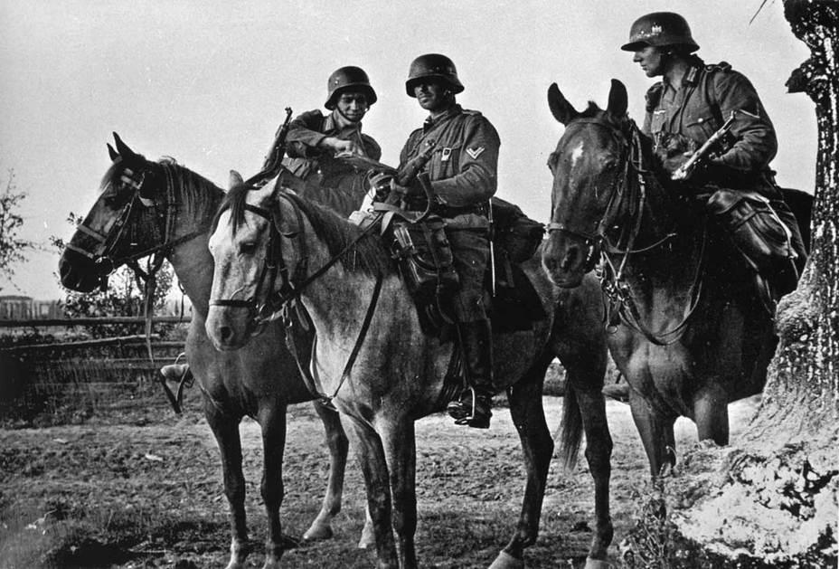 Германские кавалеристы.