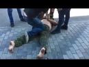 Украинский мир в лице хероя аты пришел в ТЦ Днепропетровска ударил женщину качнул права но в итоге вытер собой пол и получил