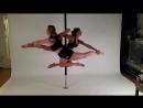 Double Trick Pole Dance with Natalie Schönberger Knee Turn Variation