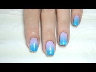 Градиентный Маникюр Омбре _ Easy Ombre Gradient Nails