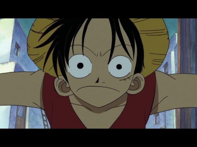 Ван Пис. Мы отплываем. Момент из аниме One Piece