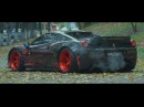 Ukraine 1 1 Only Ferrari 458 Liberty Walk ARMYTRIX Titanium Exhaust Vossen Wheels Lushyn Films