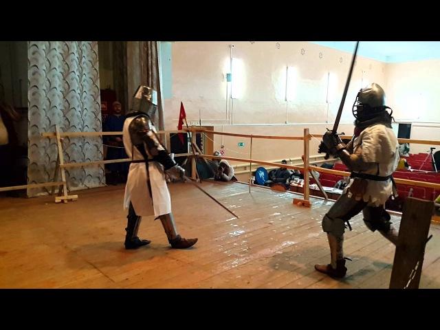 Полуторный меч-3 раунда-3 мин. А.Галкин(Саратов)-А.Макаров(Кирсанов)