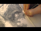GANDALF DRAWING TIME-LAPSE - 78 HOURS - REALISTIC PENCIL DRAWING