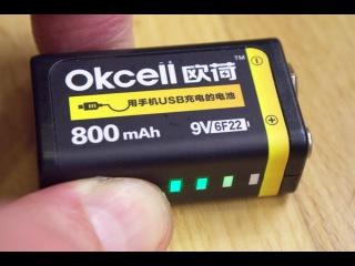 Аккумулятор OKcell USB PP3 Lipo 9V 800mAh