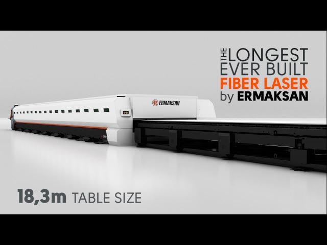 Самый длинный (18,3 м) волоконный лазер для резки листового металлопроката мощностью 6 кВт