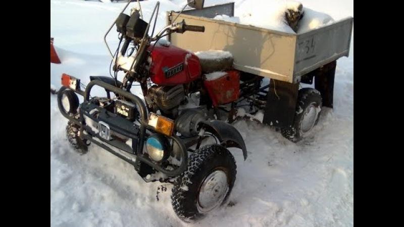 Самодельный квадроцикл (трицикл) из ижа своими руками/ Самоделкины из России