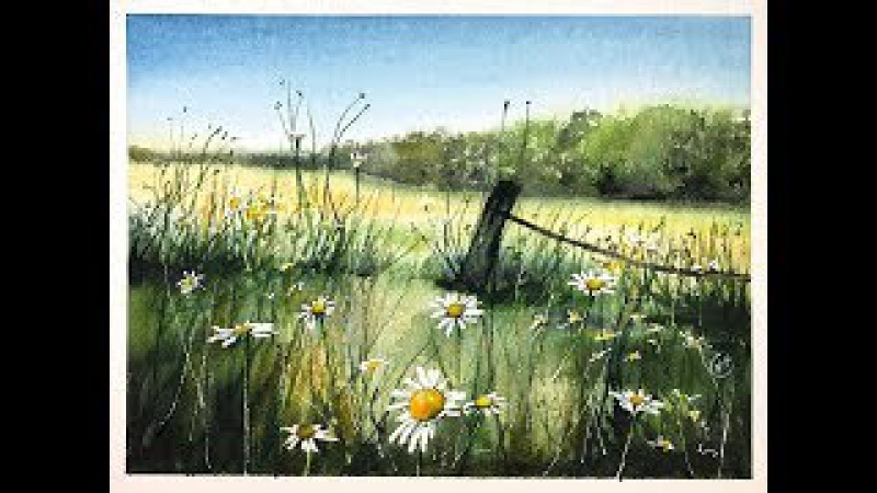 Watercolor Meadow Painting Tutorial
