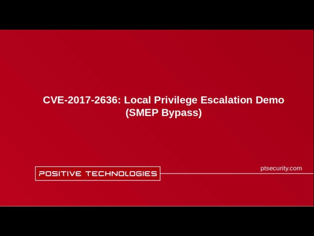 CVE-2017-2636: Local Privilege Escalation Demo (SMEP Bypass)
