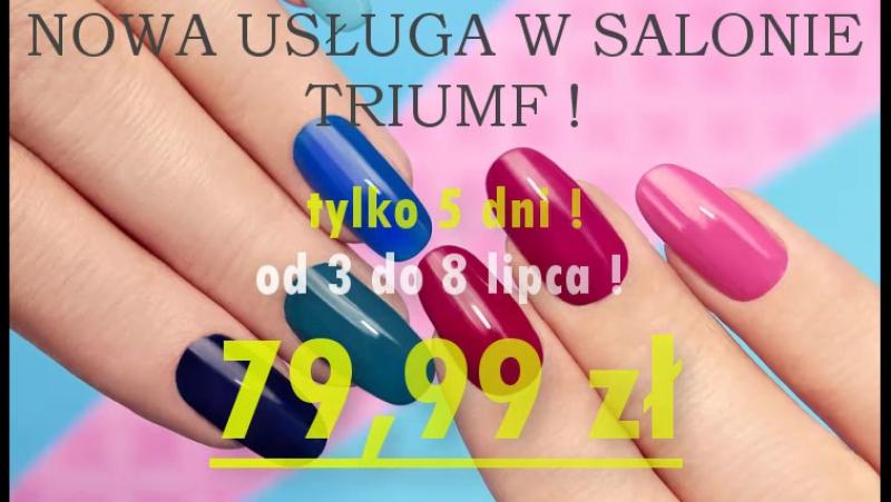 Kraków. Salon Urody TRIUMF. Manicure Tytanowy PROMOCJA !!
