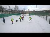 фрагмент первого пробного межфилиального матча ПАП наших воспитанников и тренировки сборной Volga Kids по хоккею.