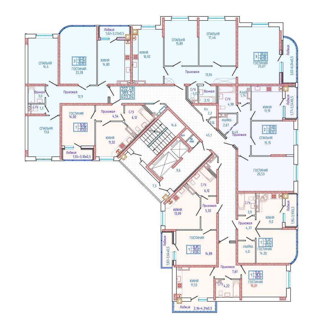 Фото всех планировок квартир в юси