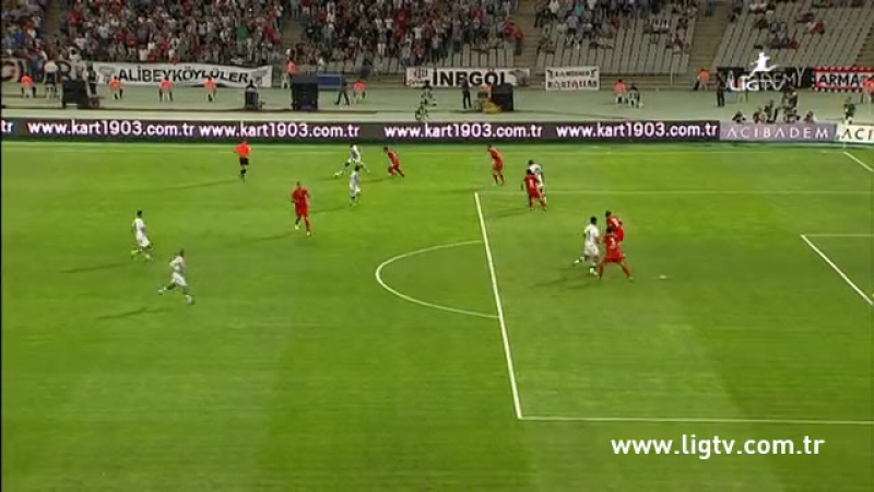 2013 - 2014 Sezonu - Beşiktaş-Gaziantepspor dakika 28 gol Hugo Almeida