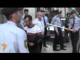Разгон митинга против запрета хиджаба в школе в Баку