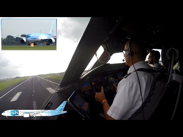 TUIfly Boeing 787 Dreamliner COCKPIT VIEW from Amsterdam to Palma