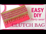 DIY Simple Clutch bag Tutorial  No Sew  Handmade paper clutch by Maya Kalista !
