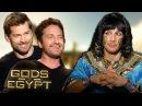 Gods Of Egypt - funny Interview Gerard Butler, Nikolaj Coster-Waldau