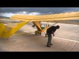 Goat glider ground test with rc engine Talos Airclub Crete