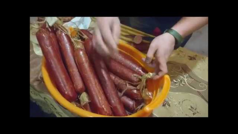 Колбаса холодного полугорячего копчения ГОСТ своими руками в домашних условиях - весь процесс