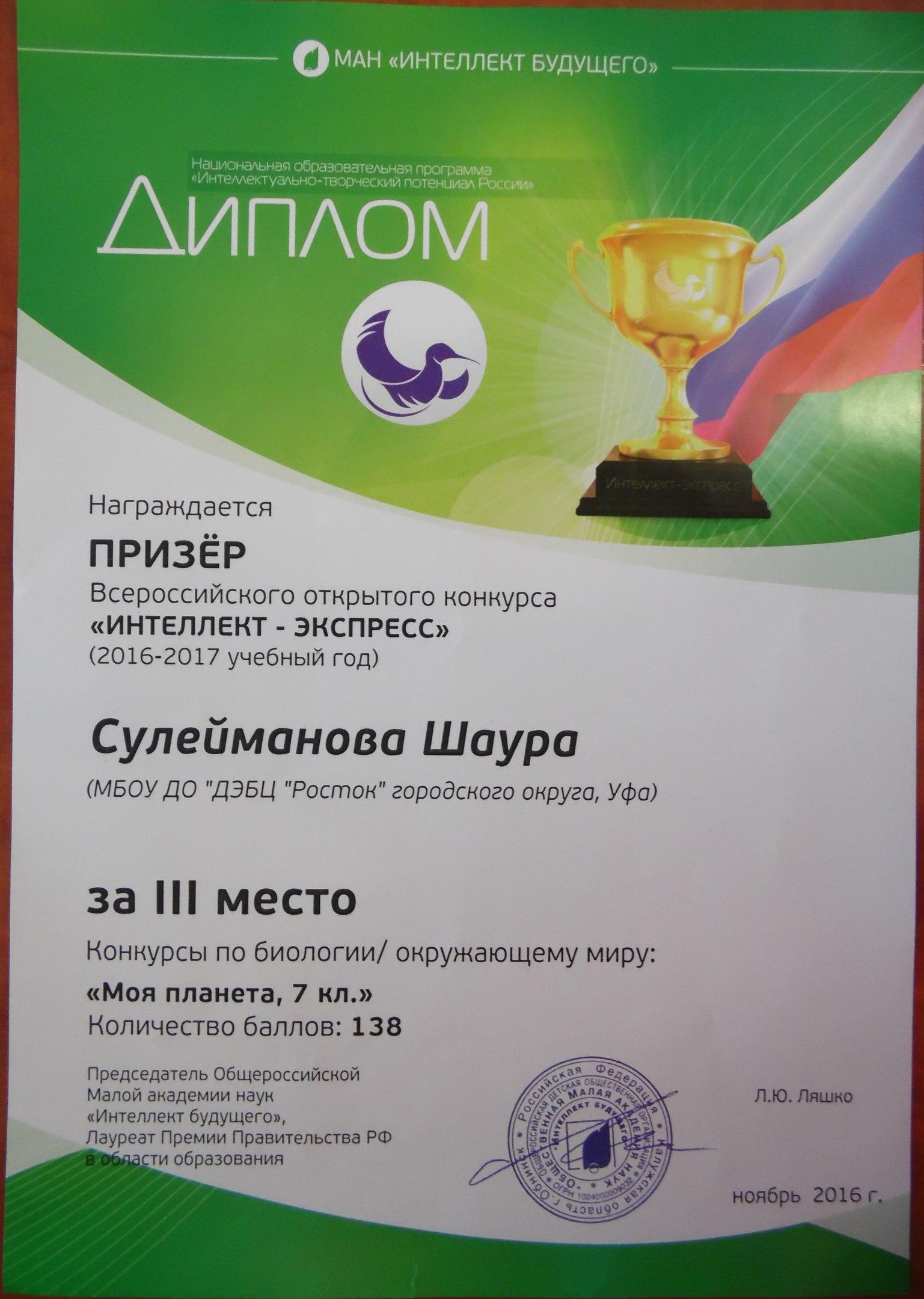 Заочные всероссийские конкурсы 2017