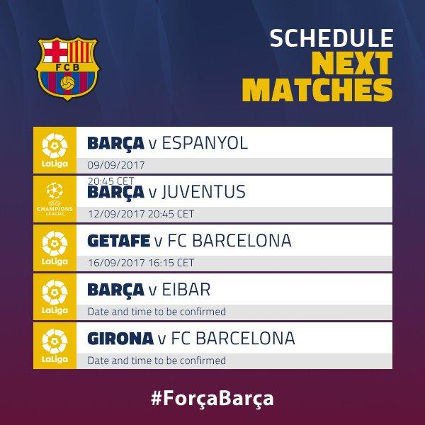 """Barcelona""ning kutilayotgan besh o`yin"