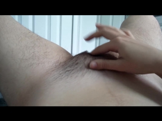 Teen fingering hairy pussy