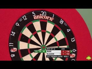 James Wade vs Jelle Klaasen (2017 Premier League Darts / Week 7)