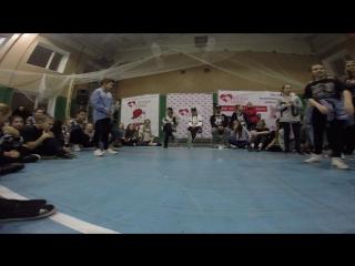 Иван Грозный vs Полина Сигачёва(win ) | 1/8 Final Hip HOp Begginers | Happy Cat 2016