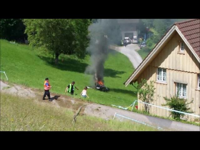 Richard Hammond crash   hillclimb Hemberg 2017   original video