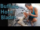 How Blacksmiths make Buffalo Horn Machete Handles