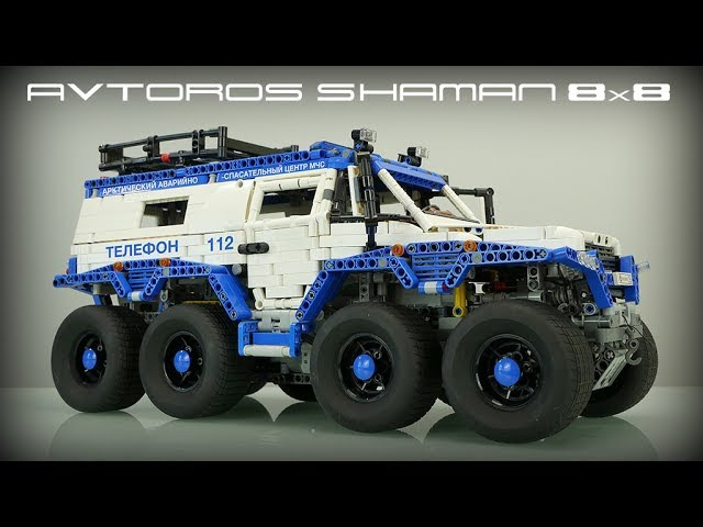 8x8 LEGO Technic Avtoros Shaman with Sbrick Madoca's MOST EPIC creation