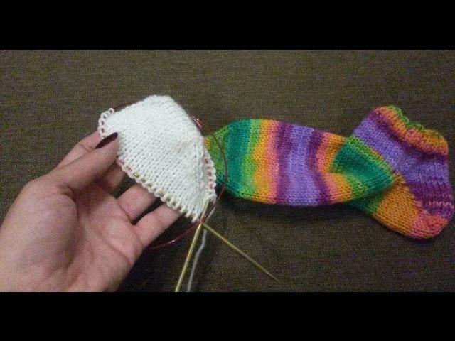Вяжемо шкарпетки (носки), починаючи з безшовного носочка.Як я це роблю.