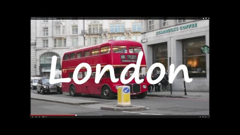 (HD1502) 3 minutes in London, Angleterre, England, Europe - 50 pictures - 2016