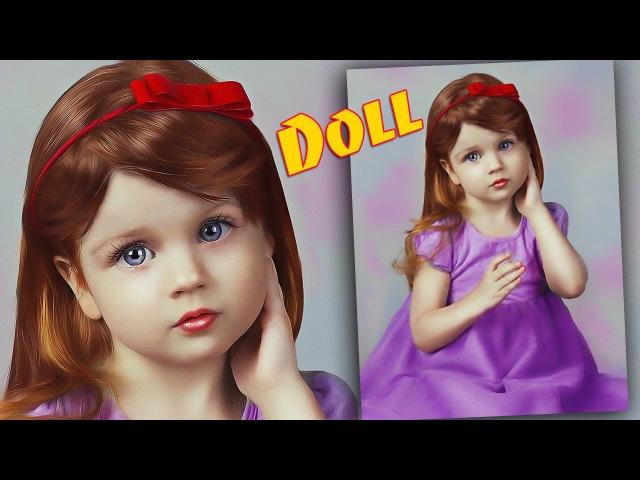 Кукольный образ в Фотошоп Делаем ребенка куклу