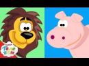 Животные для детей 1 часть Развивающие мультики про киндер сюрпризы для самых м...